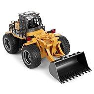 Kolový nakladač s kovovou lyžicou - RC auto na diaľkové ovládanie