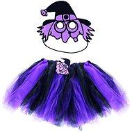 Rappa Čarodejnica/halloween fialová sukňa + maska - Detský kostým