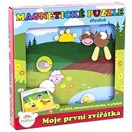 Teddies Magnetické puzzle Moje prvé zvieratká - Stavebnica