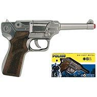 Policajná pištoľ strieborná - Detská zbraň