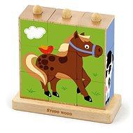 Kocky - zvieratká z farmy 9 ks - Kocková hra