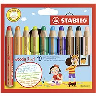 Stabilo Woody 10 farieb - Pastelky