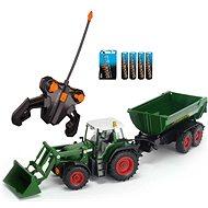 Dickie Traktor s lyžicou a vozíkom - RC model