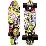 Teddies Pennyboard - čierne kolesá - Skateboard