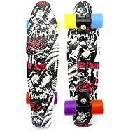 Teddies Pennyboard - farebné kolesá - Skateboard