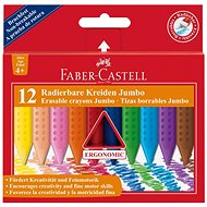 Faber-Castell Pastelky Plastic Colour Grip Jumbo, 12 Farieb - Pastelky
