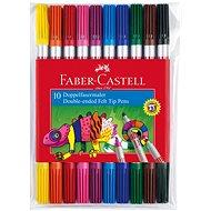 Faber-Castell Obojstranné Popisovače, 10 Farieb - Fixky