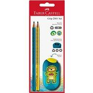 Faber-Castell Grafitová Ceruzka Grip 2001 2 ks + Strúhadlo Teenager - Súprava kancelárskych potrieb