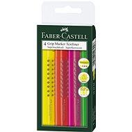 Faber-Castell Grip Marker Textliner, 4ks - Zvýrazňovač