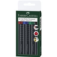 Faber-Castell Grip Marker Permanent, 4 ks - Sada kancelárskych potrieb