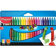 Maped Color Peps Wax, 24 farieb - Pastelky