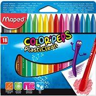 Maped Color Peps Plasticlean, 18 farieb - Pastelky