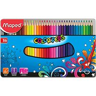 Maped Color Peps Metal Box, 36 farieb - Pastelky