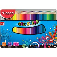 Maped Color Peps Metal Box, 48 farieb - Pastelky