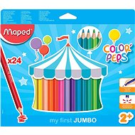 Maped Color Peps Jumbo, 24 farieb - Pastelky