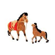 Kôň 19 cm a 13 cm s príslušenstvom - Zvieratko