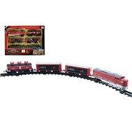 Vlak + 3 vagóny s koľajami 16 ks - Vláčikodráha