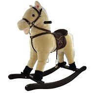 Kôň hojdací béžový - Plyšová hračka