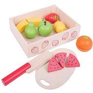 Bigjigs Krájanie ovocia v krabičke - Herná súprava