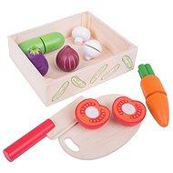Bigjigs Krájanie zeleniny v krabičke - Herný set