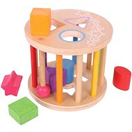 Didaktická hračka Bigjigs Motorická vhazovacia hračka Valec s tvarmi - Didaktická hračka