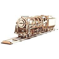 Ugears 3D Mechanická parná lokomotíva s tendrom - Stavebnica