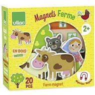 Vilac Drevené magnetky Farma 20ks - Herná sada