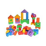 Kocky farebné 50 ks - Penové puzzle