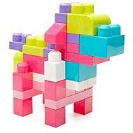 Mega Bloks Vrece kociek (80) ružové - Stavebnica