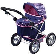 Kočík Trendy fialovo-ružový - Kočík pre bábiky