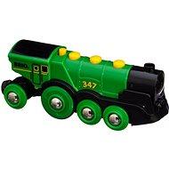 Brio World 33593 Velká zelená akční lokomotiva - Vláčik