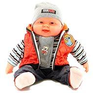 Bábätko chlapček – oranžová vesta - Bábika