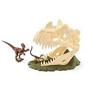 Schleich 42348 Velká lebka s Velociraptorem a ještěrem - Herná sada