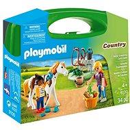 Playmobil 9100 Prenosný box - Starostlivosť o kone - Stavebnica