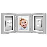 Pearhead Tri-Frame Desk Imprints in Gray - Photo Frame