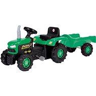DOLU Traktor šliapací s vlečkou, zelený - Šliapací traktor