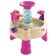 Špirálovitý vodný stôl – ružový - Detský stôl