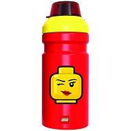 LEGO Iconic Girl žlto-červená - Fľaša na vodu