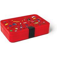 LEGO Iconic Krabička s priehradkami – červená - Úložný box