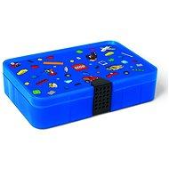 LEGO Iconic Krabička s priehradkami – modrá - Úložný box
