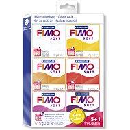 Fimo Soft súprava 5+1 Teplé farby - Modelovacia hmota