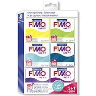 Fimo Soft súprava 5 + 1 Studené farby - Modelovacia hmota