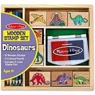 Drevené pečiatky v krabičke Dino - Pečiatky