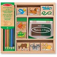 Drevené pečiatky v škatuľke Zvieratká - Pečiatky