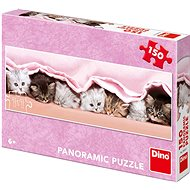 Mačiatka pod dekou - panoramic - Puzzle