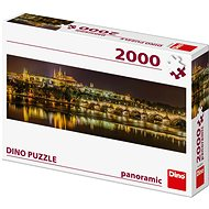 Karlov most v noci - panoramic - Puzzle