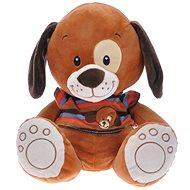 Pes 34 cm – tmavo-hnedý - Plyšová hračka