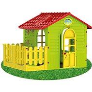 Detský zahradný domček s plotom stredný - Detský domček