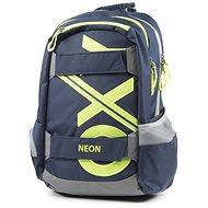 OXY Sport Blue Line Green - Školský batoh