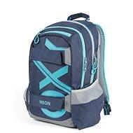 OXY Sport Blue Line Tyrkys - Školský batoh